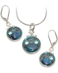 AVA Goldworks - Cornflower Opal Earrings And Necklace Set - Lyst