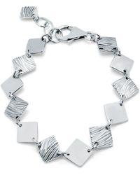 Designs by JAK - Verity Square Diamond Link Bracelet - Lyst