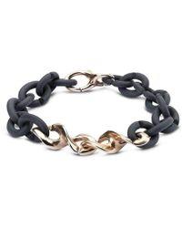 X Jewellery - Graphite Dna Bracelet - Lyst