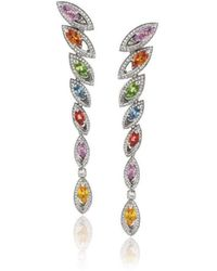 Niquesa Fine Jewellery - Petali D'amore Multicoloured Sapphire Earrings - Lyst
