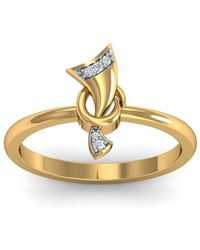 Diamoire Jewels - 18kt Yellow Gold Pave 0.03ct Diamond Infinity Ring Ii - Lyst