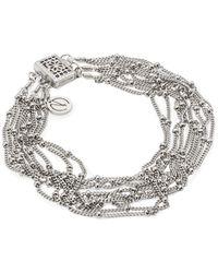 Mishanto London Rhodium Plated Silver Rio Bracelet - Metallic