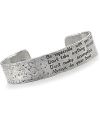 House of Alaia - Four Agreements Reminder Cuff In Silver Large - Lyst
