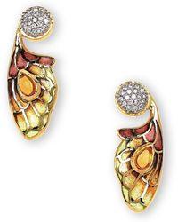 Nicole Barr - 18kt Gold Bee Drop Earrings - Lyst
