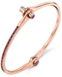 Borgioni Skinny Baguette Handcuff In Rose Gold - Metallic