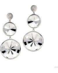 Rose Carvalho Kaleidoscope Medium Wt Earrings - Metallic
