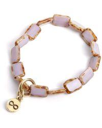 Eva Michele - Lavender Infinity Bracelet - Lyst
