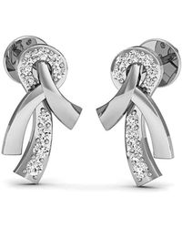 Diamoire Jewels - Hand-hammered Pave Diamond And 18kt White Gold Earrings - Lyst