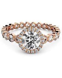 MARCELLO RICCIO Rose Gold & Diamond Solitaire Ring - Metallic