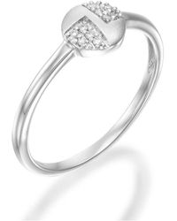 SHARON Fine Jewelry - Pave Circle Ring - Lyst