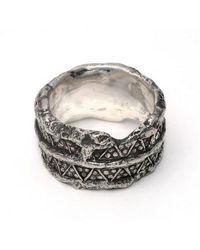L. Skelly Jewellery Sterling Silver Paganus Ring Ii - Metallic