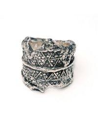 L. Skelly Jewellery Sterling Silver Paganus Ring - Uk I - Us 4.5 - Eu 48 - Metallic