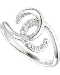 Amore Argento - Rhodium Plated Sterling Silver Thrills & Spills Ring - Lyst