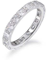 Lustre of London - Princess Cut Full Eternity Ring - Lyst