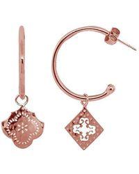 Murkani Jewellery - Rose Gold Medium Mismatched Hoop Earrings | - Lyst