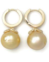 Donna Pizarro Designs 14kt Golden South Sea Pearl Earrings vj8Tk64ulY