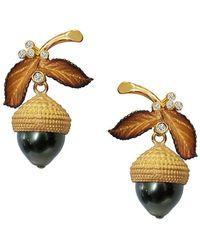 Chekotin Jewellery - Acorn Eden Earrings - Lyst