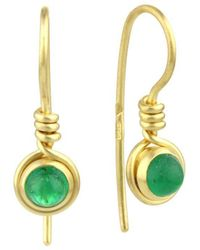 Prism Design - 9kt Gold Emerald Earrings - Lyst