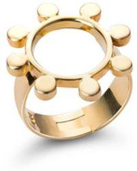 SOLUNA - 18kt Yellow Gold Sun Crown Ring - Lyst