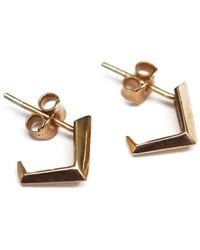 K ' S S A R A - Yellow Gold Plated Sofia Earrings - Lyst