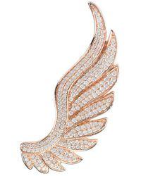 LÁTELITA London - Rose Gold Plated Gabriel Angel Wing Ear Climber - Right - Lyst