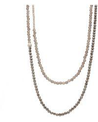 Faystone Eudora Necklace - Metallic