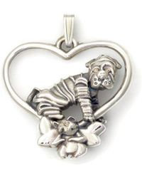 Donna Pizarro Designs Sterling Silver Chinese Shar Pei Necklace CLkYhO