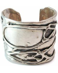 Private Opening - Large Byzantine Oxidized Silver Cuff - Lyst