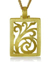 Alex Soldier - 18kt Gold Ornament Pendant With Contrast Texture - Lyst