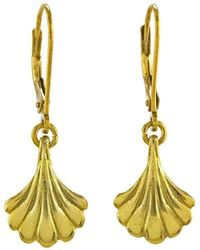 Rosie Kent Hanging Wing Yellow Gold Drops - Multicolor