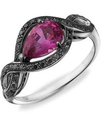 Soligems - Black Romance Sapphire Ring - Lyst
