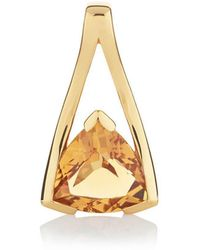 MANJA Jewellery - Valentine Gold Citrine Pendant - Lyst