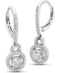 Isaac Westman - Diamond Dangle Earrings - Lyst