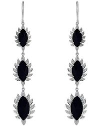 Meghna Jewels - Triple Drop Earrings With Black Onyx - Lyst