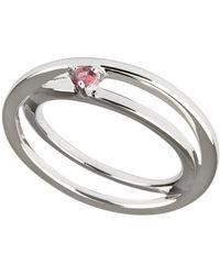 Carolin Stone Jewelry Sterling Silver Pink Tourmaline Self-love Ring - Metallic