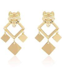 Alexa K - 18kt Gold Plated Brass Night Wolf Earrings - Lyst
