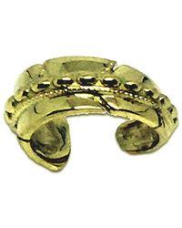 Katherine LeGrand Custom Goldsmith - 14kt Yellow Gold Feather Beaded Ear Cuff - Lyst