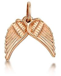 Becky Rowe - Rose Gold Angel Wings Small Pendant Charm | - Lyst