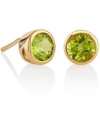 MANJA Jewellery - Juliet Gold Peridot Earrings - Lyst