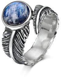 Becky Rowe - Moonstone Feather Silver Ring - Lyst