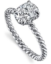 Harry Kotlar - Cushion Cut Hand Twist Shank Ring - Lyst