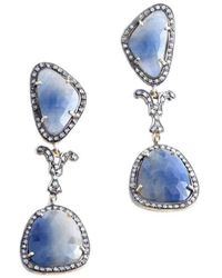 M's Gems by Mamta Valrani - Starlit Sky Drop Earrings With Sapphires And Diamonds - Lyst