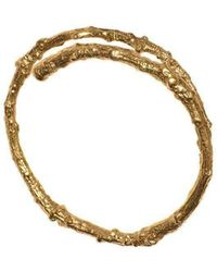 Tracy Hills Jewellery - Gold Vermeil Twig Bangle - Lyst