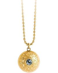 Becky Dockree Jewellery - Gold Double Gem Dome Necklace - Lyst
