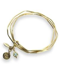 Will Bishop - Gold Bangles With Blue Topaz - Lyst