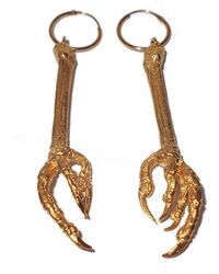 Tracy Hills Jewellery - Gold Vermeil Bird Claw Hoop Earrings - Large - Lyst