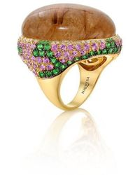 Niquesa Fine Jewellery - Venice Pulcinella Golden Centre Rutile Quartz Ring - Lyst