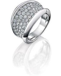 Soley London - 18kt White Gold Moonscape Diamond Ring - Lyst