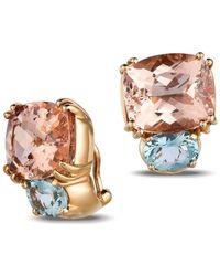 Gemlok for Gemveto - Bold Rose Gold Earrings - Lyst