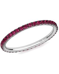 Verifine London 18kt White Gold Ruby Full Eternity Ring - Uk J - Us 4.75 - Eu 48.7 - Multicolour
